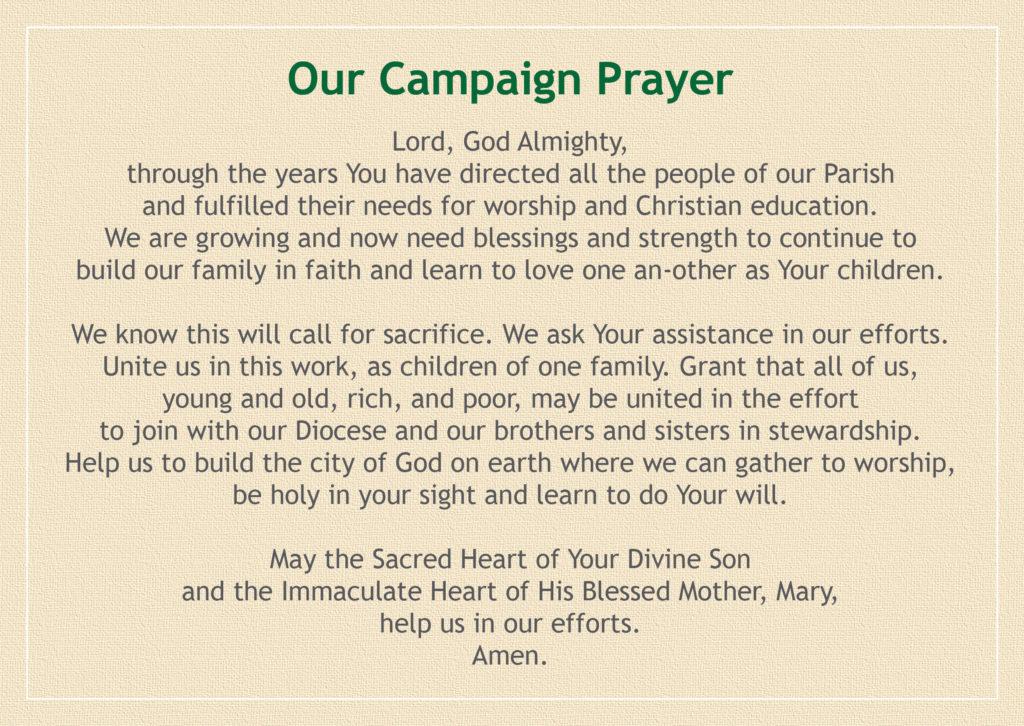 Campaign Prayer